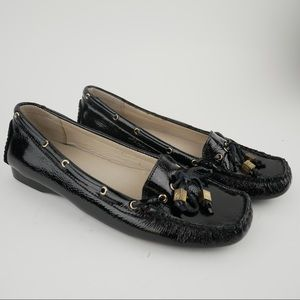 Michael Kors sz 9 black patent leather loafers